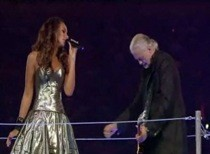"Jimmy Page And Leona Lewis Set The Stage For The London Olympics With ""Whole Lotta Love"""