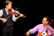 Andrew Bird And Yo-Yo Ma Smile And Whistle At Each Other