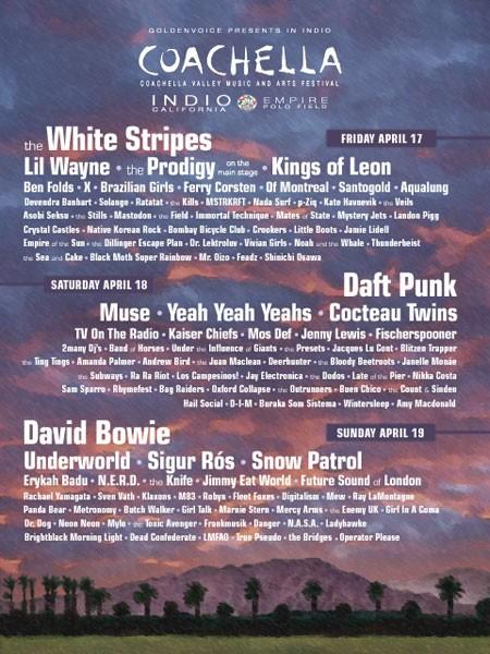 Coachella 2009 Line Up Not Revealed Stereogum