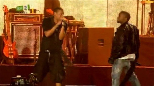 Jay-Z Brings Out Kanye West At Isle Of Wight