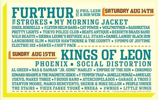 Outside Lands Festival Lineup 2010