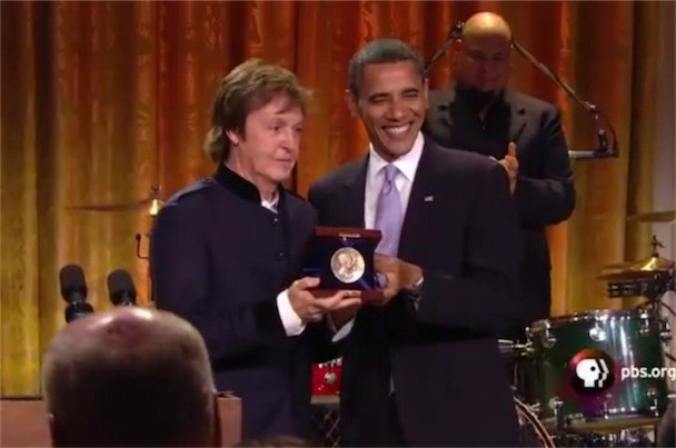 Paul McCartney Barack Obama