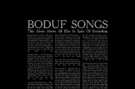 "Boduf Songs – ""Decapitation Blues"" (Stereogum Premiere)"