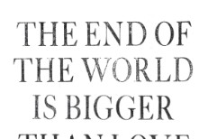"""Jens Lekman - """"The End Of The World Is Bigger Than Love"""" Art"""
