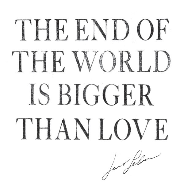 "Jens Lekman - ""The End Of The World Is Bigger Than Love"" Art"
