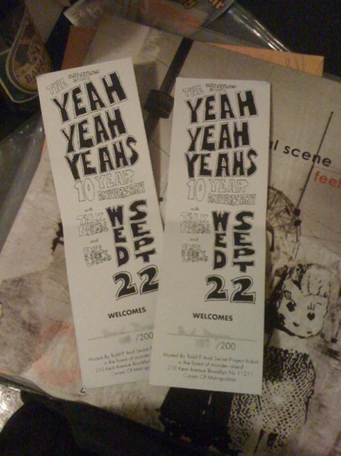 Yeah Yeah Yeahs 10th Anniversary Tickets
