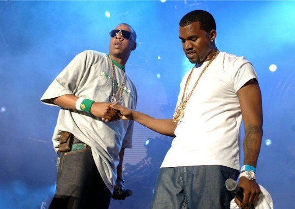 Jay-Z And Kanye West By Theo Wargo/Wire Image
