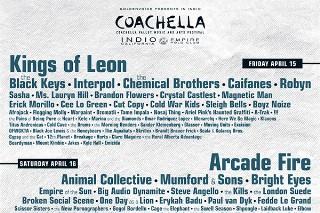 Coachella 2011 Lineup