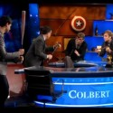 """Vampire Weekend & The Black Keys Hit Colbert For A """"Sell-Out-Off"""""""