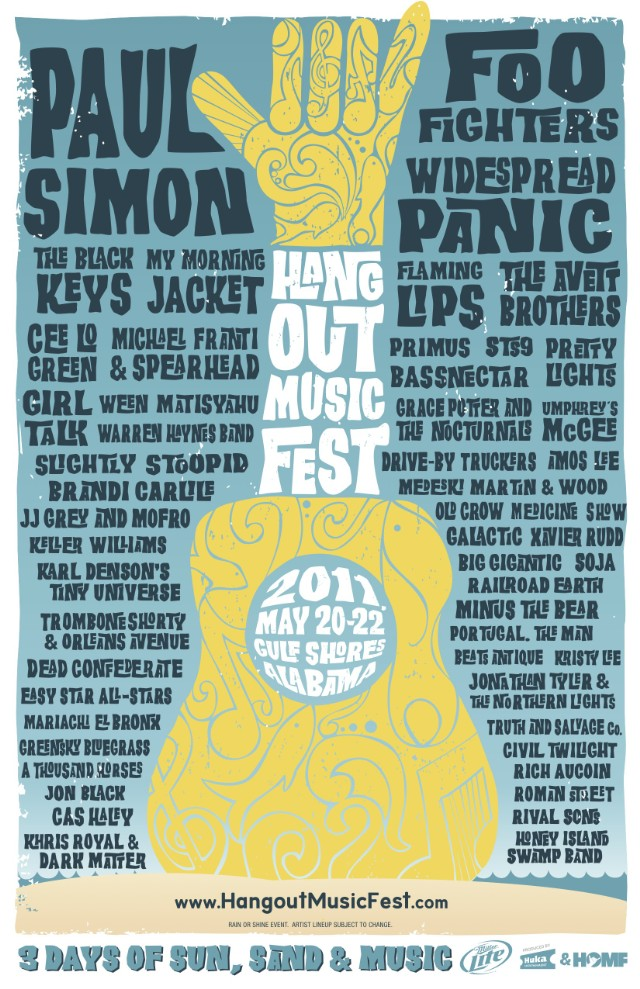 Hangout Music Festival Lineup 2011