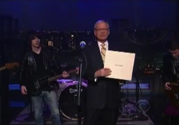 Arctic Monkeys David Letterman 2011