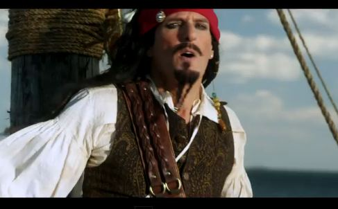 Michael Bolton Is Captain Jack Sparrow