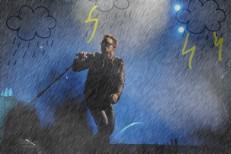 Bono Hitchhiking In The Rain