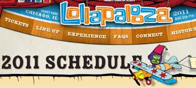Lollapalooza 2011 Schedule