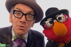 Elvis Costello on Sesame Street