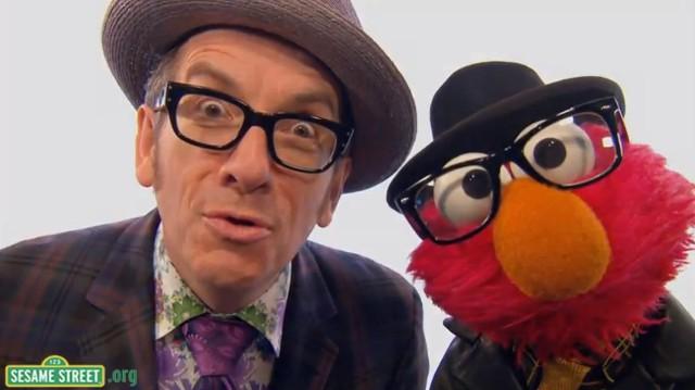 Elvis Costello on Sesame Street