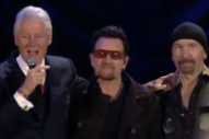 Watch Bono & The Edge Play William J Clinton Foundation 10 Year Anniversary