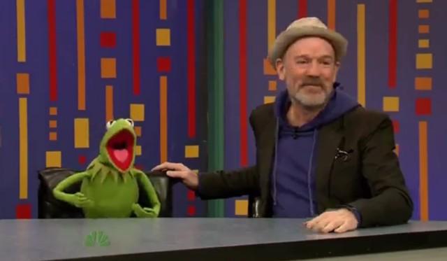 Michael Stipe and Kermit