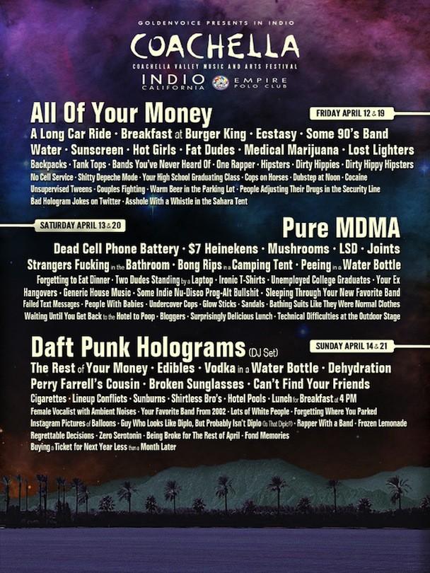 Coachella 2013 Lineup Leak :P