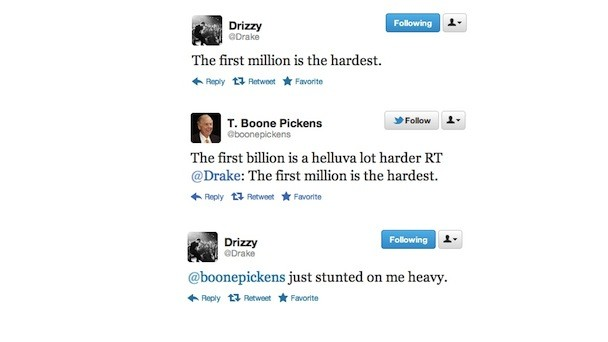 T. Boone Pickens Stunts On Drake