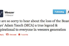Artists Respond To MCA's Death On Twitter