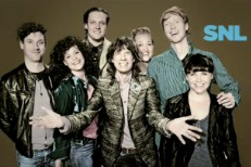 Mick Jagger with Arcade Fire on SNL