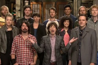 Watch <em>SNL</em>&#8217;s Mick Jagger/Arcade Fire/Foo Fighters Promos
