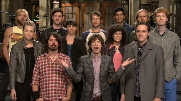 Watch SNL's Mick Jagger/Arcade Fire/Foo Fighters Promos