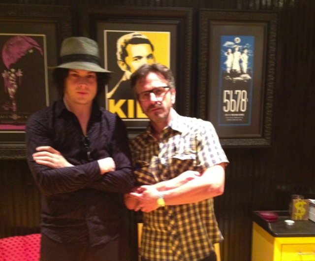 Jack White and Marc Maron