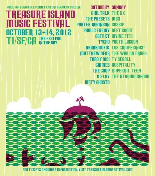 Treasure Island Festival 2012 Lineup