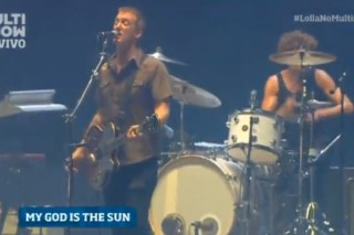 "Watch Queens Of The Stone Age Debut ""My God Is The Sun"" At Lollapalooza Brazil"