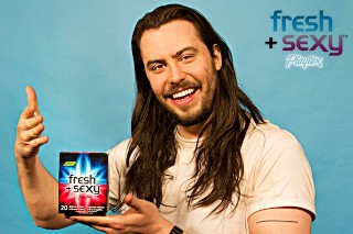Andrew WK Is The Face Of Playtex Wipes