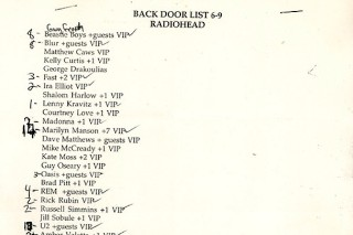 Check Out The Insane Guest List For Radiohead At Irving Plaza '97