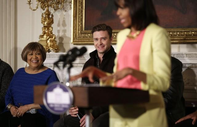 Justin Timberlake & Michelle Obama