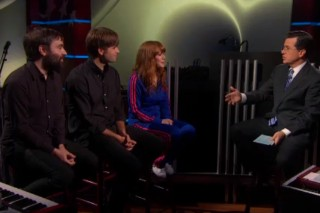 Watch The Postal Service Play <em>The Colbert Report</em> With Jenny Lewis