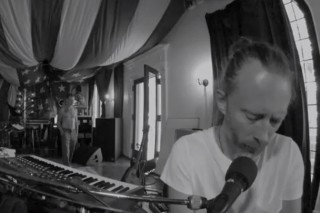 "Watch Thom Yorke Play ""Rabbit In Your Headlights"" At Atoms For Peace Tour Rehearsal"