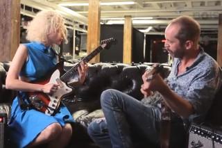 Watch St. Vincent And Matt Sweeney Jam And Talk Guitars