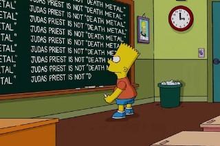 <em>The Simpsons</em> Apologize To Judas Priest In Chalkboard Gag