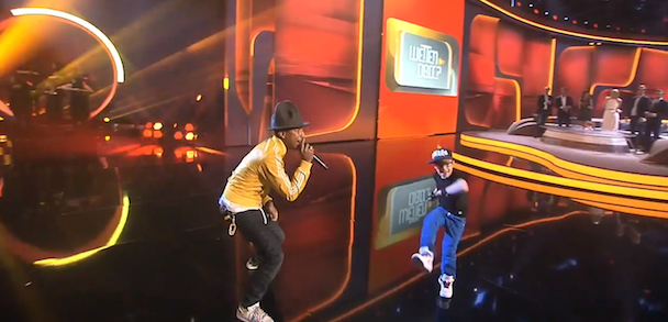 "Watch Pharrell Perform ""Happy"" On German TV With A Little Breakdancing Kid"