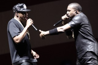 Kanye & Jay Z Brought The Throne To SXSW's Samsung Owners