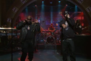 Watch Rick Ross Play <em>Late Night</em> With French Montana