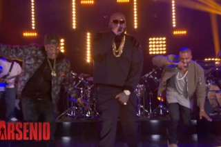 Watch Kanye West &#038; Big Sean&#8217;s Surprise Appearance With Rick Ross On <em>Arsenio</em>