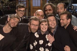 Watch Lena Dunham Tickle The National In Their <em>SNL</em> Promos
