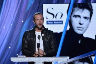 "Watch Chris Martin & Peter Gabriel Perform ""Washing Of The Water"" At The Rock & Roll Hall Of Fame Induction"