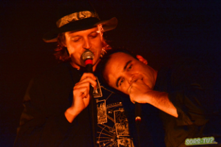 """Watch Future Islands Play """"Seasons (Waiting On You)"""" With Arcade Fire's Win Butler In Montreal"""