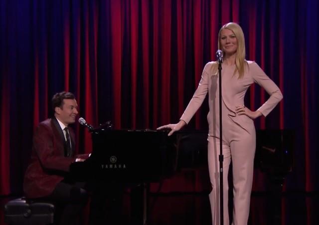 Gwyneth Paltrow and Jimmy Fallon