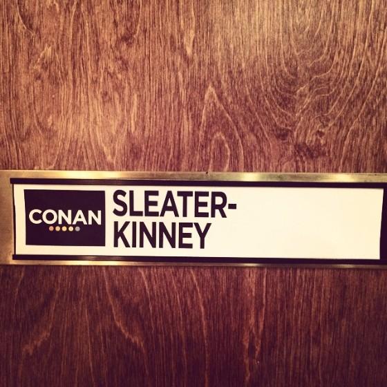 Sleater-Kinney on Conan