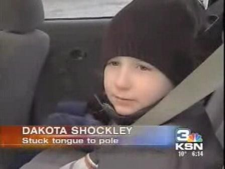 Kid Gets Tongue Stuck To Metal Pole Like In A Christmas Story ...