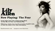 "New Lily Allen – ""The Fear"""