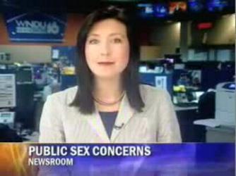 Reporter having sex